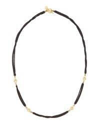 Armenta Multi Chain Diamond Necklace Black