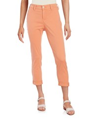 Nydj Petite Cropped Chino Pants Coral Spice