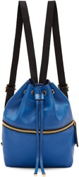 Marni Blue Leather Mini Backpack