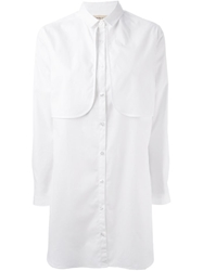 Libertine Libertine 'Joy' Long Line Shirt White