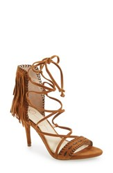 Jessica Simpson Women's 'Mareya' Fringe Ankle Tie Sandal Spice Brown Suede