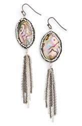 Panacea Women's Abalone Tassel Drop Earrings