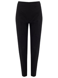 Jacques Vert Sateen Cropped Trousers Black