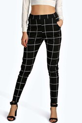 Boohoo Ponte Pocket Detail Printed Leggings Black