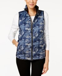 G.H. Bass And Co. Reversible Puffer Vest Deep Navy Combo
