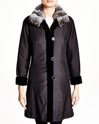 Maximilian Sheared Mink Reversible Coat With Chinchilla Collar Bloomingdale's Exclusive Black Natural