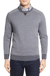 Peter Millar Men's Merino Wool Crewneck Sweater Charcoal