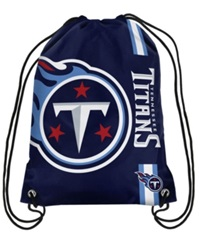 Forever Collectibles Tennessee Titans Big Logo Drawstring Bag Navy