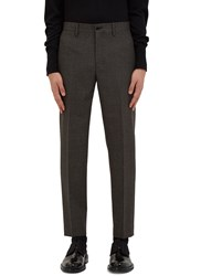 Acne Studios Stan Checked Slim Leg Pants Grey