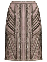 Phase Eight Ena Beaded Pencil Skirt Putty