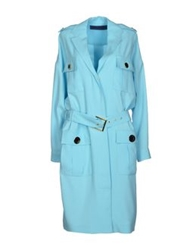 Emanuel Ungaro Full Length Jackets Sky Blue