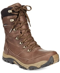 The North Face Chilkat Leather Insulated Tall Boots Men's Shoes Demitasse Brown Cub Brown