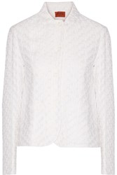 Missoni Crochet Knit Jacket White