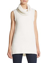 Cashmere Saks Fifth Avenue Sleeveless Cowlneck Sweater Camel