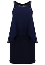 Evans Summer Dress Navy Blue Dark Blue