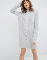 Gestuz Sanni Jumper Dress Mid Grey Melange