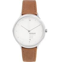 Mondaine Helvetica No1 Light Stainless Steel And Leather Watch Brown