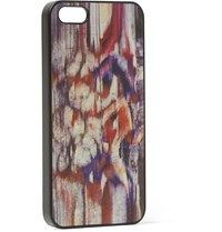 Paul Smith Printed Leather Iphone 5 Case Brown