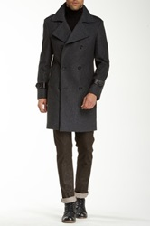 7 Diamonds Arezzo Wool Blend Coat Gray