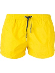 Fendi Drawstring Swim Shorts Yellow And Orange