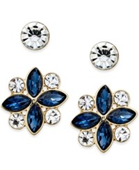 Charter Club Gold Tone 2 Pc. Set Crystal Stud Earrings Only At Macy's
