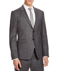 Paul Smith Flannel Slim Fit Sport Coat Gray