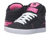 Osiris Clone Black Denim Pink Women's Skate Shoes