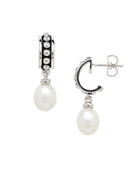 Honora Style Sterling Silver And Fresh Water Pearl Drop Earrings Pearl Silver