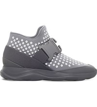 Christopher Kane Studded Stretch Trainers Silver