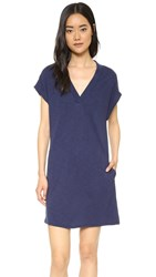 Lanston Cap Sleeve Pocket Dress Mystic