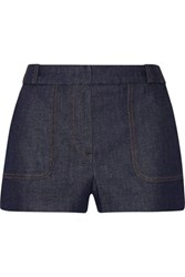 Victoria Beckham Denim Stretch Denim Shorts Indigo