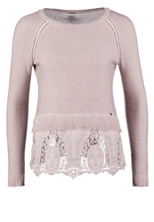 Khujo Lacy Jumper Washed Rose