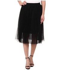Sam Edelman Pleated Tulle Skirt Black Women's Skirt