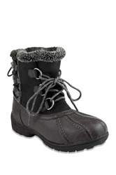 London Fog Ledbury Faux Shearling Trim Lace Up Cold Weather Boot Multi