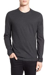 Boss Men's 'Tenison' Slim Fit Long Sleeve T Shirt Grey