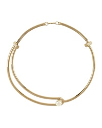 Gold Plated Pearly Collar Necklace Jason Wu