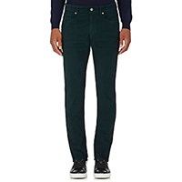 Incotex Men's Ray 5 Pocket Corduroy Pants Green