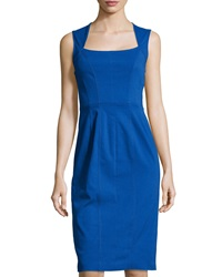 Marc New York By Andrew Marc Sleeveless Square Neck Dress Blue Viole