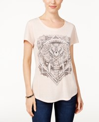 Styleandco. Style Co. Elephant Graphic T Shirt Only At Macy's Crushed Petal