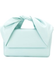 J.W.Anderson J.W. Anderson Flap Closure Top Handle Clutch Bag Blue