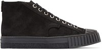 Adieu Black Suede Type W.O. High Top Sneakers