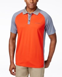 Columbia Men's Blasting Cool Performance Polo Orange