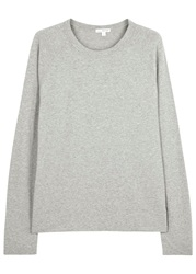 James Perse Grey Cotton Jersey Sweatshirt Light Grey