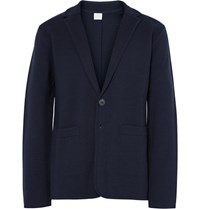 Sunspel Blue Ilano Erino Wool Blazer Navy