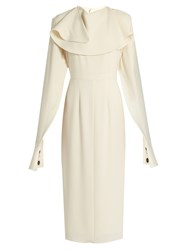 J.W.Anderson Deconstructed Sleeve Crepe Dress Ivory