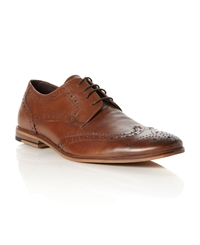 Linea Brompton Casual Lace Up Brogues Tan
