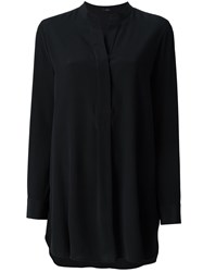 Joseph Band Collar Blouse Black