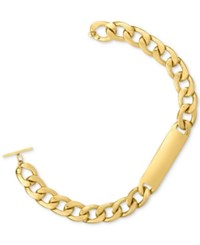 Rachel Roy Gold Tone Link Id Collar Necklace