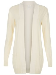People Tree Riva Long Line Cardigan White