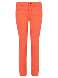 Karen Millen Coated Skinny Jeans Orange